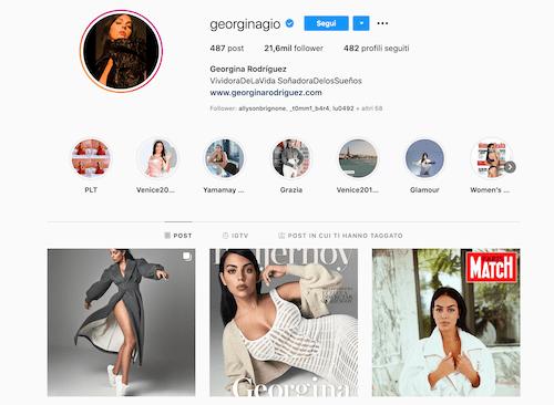 Georgina Rodriguez Instagram, scopriamo il profilo
