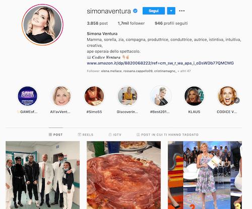 Simona Ventura Instagram, scopriamo il profilo