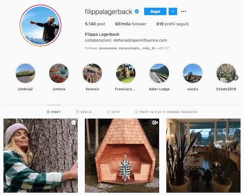 Filippa Lagerback instagram