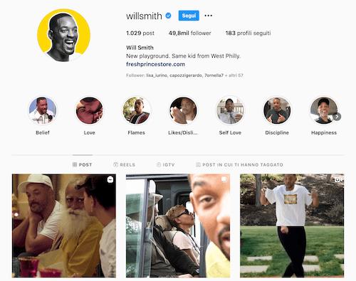 Will Smith Instagram, cosa pubblica?