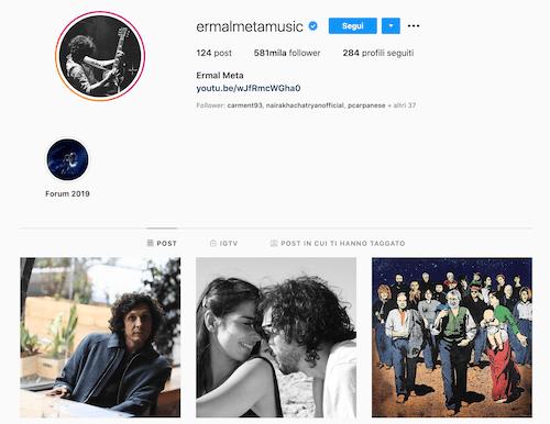 Ermal Meta Instagram, scopriamo il profilo