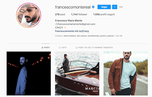 Francesco Monte Instagram, 2 Foto hot