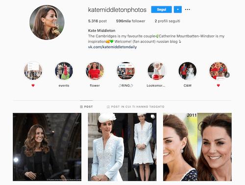 Kate Middleton Instagram, scopriamo il suo profilo