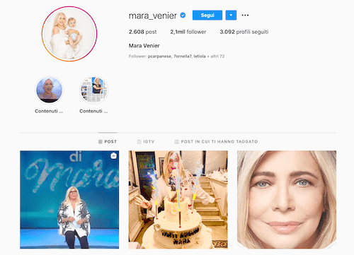 Mara Venier Instagram, foto a tradimento