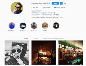 cesare cremonini instagram