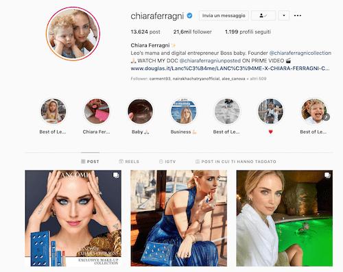 Chiara Ferragni Instagram: scopriamo il profilo