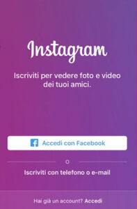 iscriversi a instagram