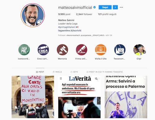 """Matteo Salvini Instagram: """"Io non pippo."""""""